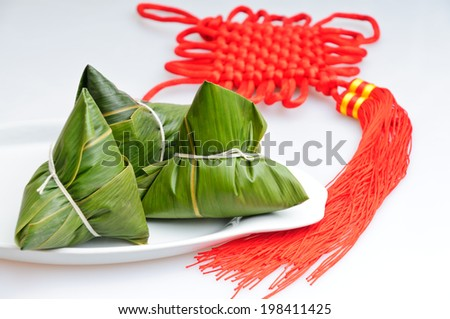 rice dumplings,Chinese Traditional food - stock photo