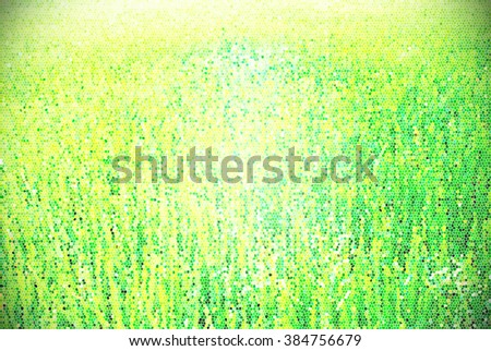 Rice field by stain glass style  - stock photo