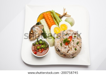 Rice, fish food, Thailand