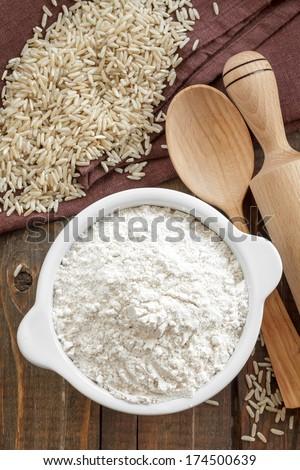 Rice flour - stock photo