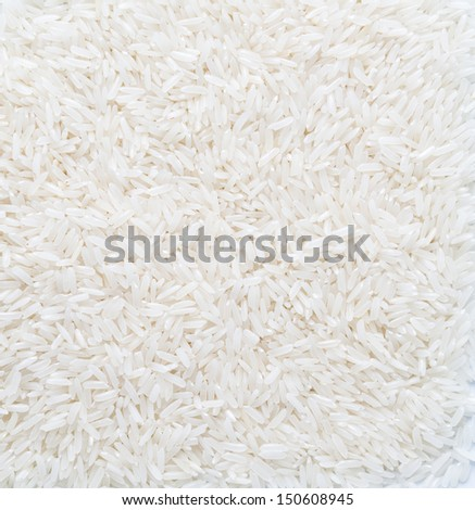rice grain (jasmine rice) for background - stock photo
