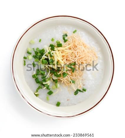 rice gruel - stock photo