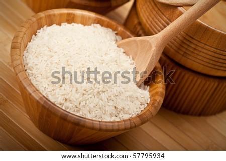 Rice on bowl - stock photo