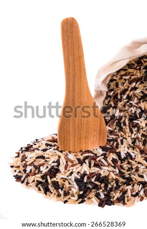 Rice on white backgrounds - stock photo