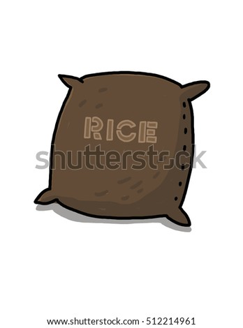 Rice sack illustration