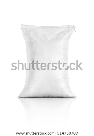 rice sack, sand bag, agriculture product isolated on white background