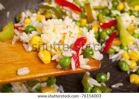 Rice Salad - stock photo
