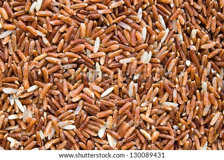 rice texture on white background - stock photo