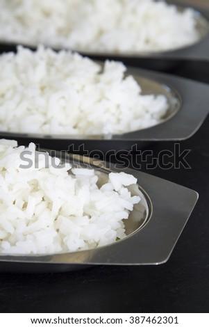 rice trays - stock photo