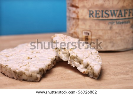 rice wafer - stock photo