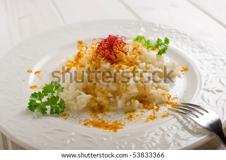 rice with natural saffron  and curry