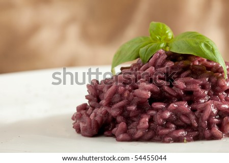 Rice with redwine