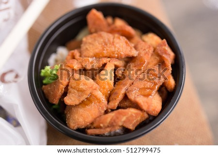 Rice with Salmon Fried,Asian cuisine