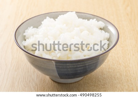 Rice with the rice bowl