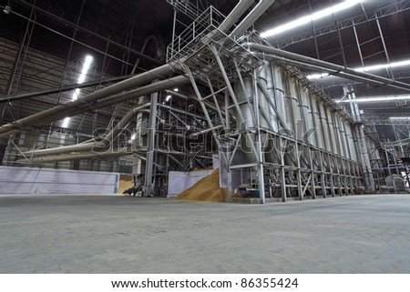 Ricemill process production line - stock photo