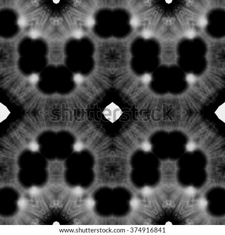 Rich abstract blurred paisley ornament. Seamless pattern or textures. Kaleidoscopic orient popular style