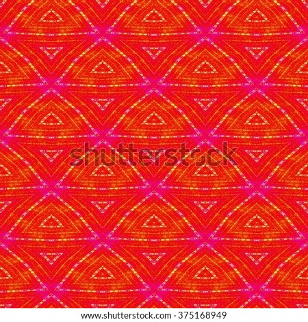 Rich abstract colorful ornament. Seamless pattern or textures. Kaleidoscopic orient popular style