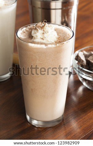 Rich and Creamy Chocolate Milkshake with whipped cream