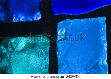 Rich colored stain glass panels background 01 - stock photo