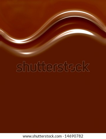 Rich, Creamy, Delicious Chocolate Swirls With Smooth Copyspace