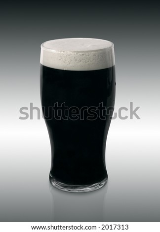 Rich Dark Pint of Stout Beer - stock photo
