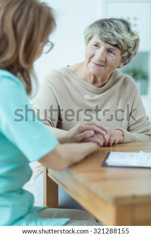 Rich old woman has her private visit in home
