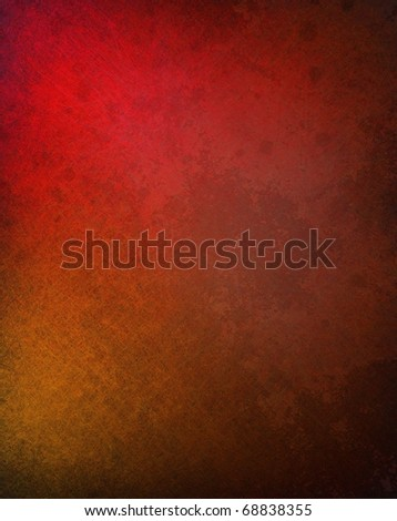 rich red background with darkened black edges and blotchy grunge textured surface soft highlights and copy space to add your text title or image - stock photo