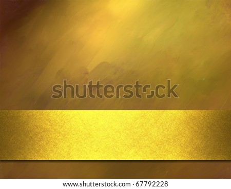 rich shiny gold background with texture, elegant lighting, graphic art design layout, and bright gold ribbon stripe copy space to add your own text, title, image, or photo - stock photo