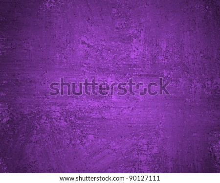 rich vibrant purple background with smeary grunge vintage texture and soft lighting with copy space - stock photo