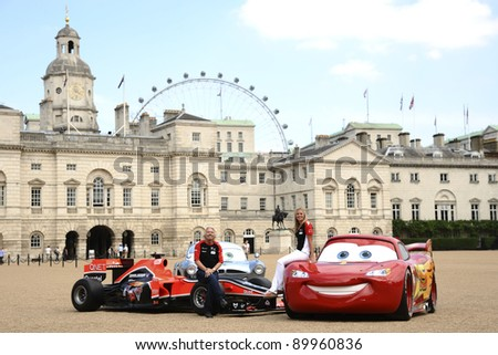 "Richard and Holly Branson launch the ""Cars 2"" and Marussia Virgin Racing partnership at Horse Guards Parade, London  04/07/2011 Picture by: Steve Vas / Featureflash - stock photo"