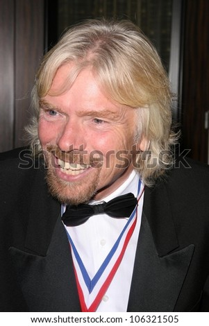 Richard Branson at the 6th Annual 'Living Legends of Aviation' Awards Ceremony. The Beverly Hilton Hotel, Beverly Hills, CA. 01-22-09 - stock photo
