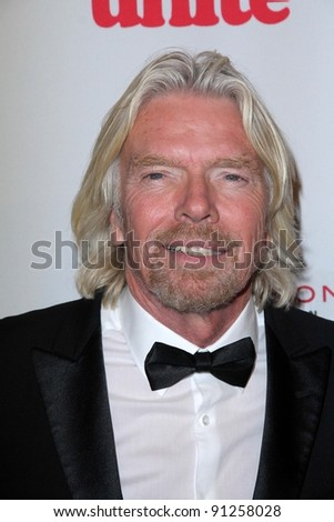 Richard Branson at the 5th Annual Rock The Kasbah Fundraising Gala, Boulevard 3, Hollywood, CA 11-16-11 - stock photo