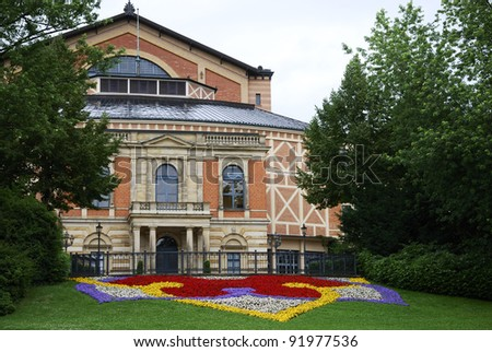 Richard Wagner Opera house in Bayreuth (Germany) - stock photo