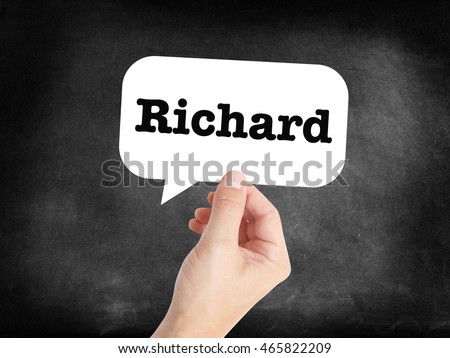 Richard written in a speechbubble