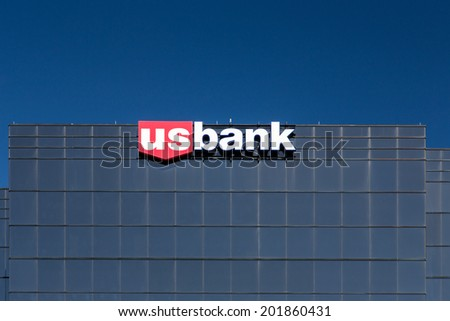 RICHFIELD, MN/USA - JUNE 21, 2014: US Bank headquarters building. U.S. Bancorp is an American diversified financial services holding company headquartered in Minneapolis, Minnesota. - stock photo