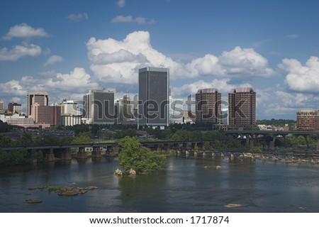 Richmond from Lee Bridge North - stock photo