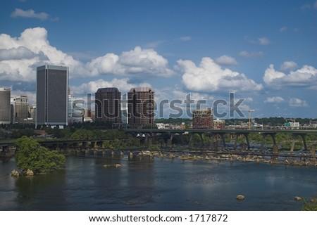 Richmond from Lee Bridge South - stock photo