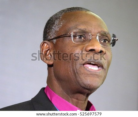 RICHMOND HILL, ONTARIO - JULY 11, 2016: Archbishop Josiah Atkins Idowu-Fearon is secretary general of the worldwide Anglican Communion.