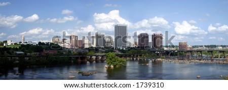 Richmond Skyline Panorama - stock photo