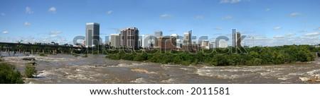 Richmond Skyline - Panorama - stock photo