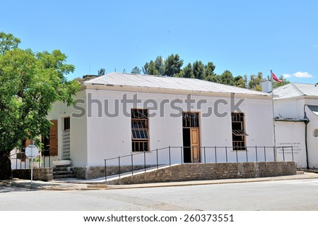 RICHMOND, SOUTH AFRICA - DECEMBER 1, 2014: Library in a historical building in Richmond in the Northern Cape Province of South Africa  - stock photo