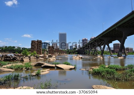 Richmond, Virginia Landscape - stock photo