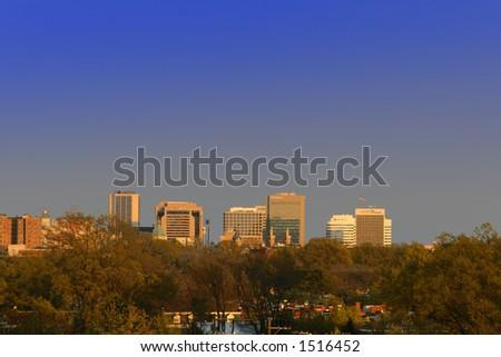 Richmond Virginia Skyline - stock photo