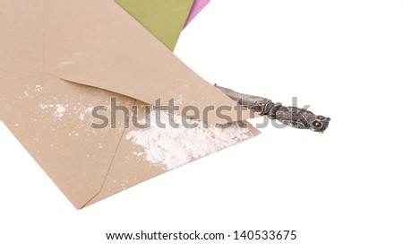 Ricin Envelope - stock photo