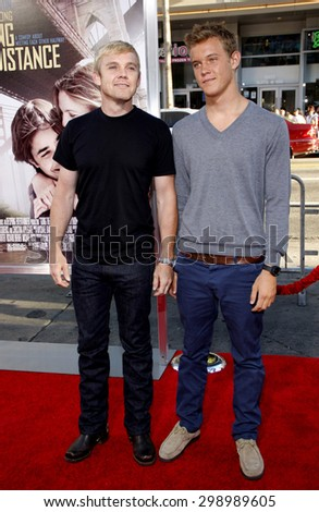 Rick Schroder and Luke Schroder at the Los Angeles premiere of 'Going The Distance' held at the Grauman's Chinese Theater in Hollywood on August 23, 2010.   - stock photo