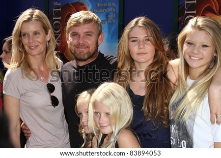 "Rick Schroder with family at ""The Lion King 3D"" Los Angeles Premiere, El Capitan, Hollywood, CA 08-27-11"
