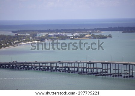 Rickenbacker Causeway Miami FL - stock photo