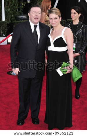 Ricky Gervais at the 14th Annual Screen Actors Guild Awards at the Shrine Auditorium, Los Angeles, CA. January 27, 2008  Los Angeles, CA. Picture: Paul Smith / Featureflash