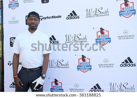 Ricky Smith arrives at the inaugural Stephen Bishop celebrity golf invitational benefiting R.A.K.E. on Feb. 15, 2016 at Calabasas Country Club in Calabasas, CA. - stock photo