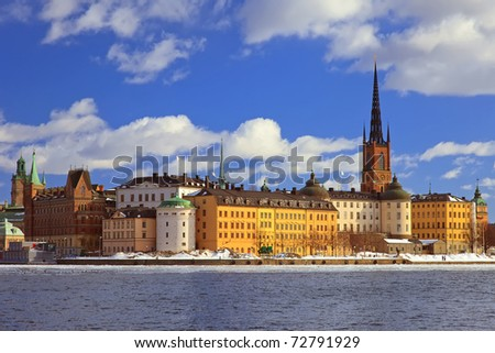 Riddarholmen, small island in central Stockholm. Sweden.